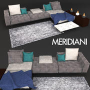Sofá Meridiani Timothy 3d model