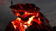 brand skalle grotta 3d model