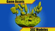 Pack de vegetación de baja poli modelo 3d