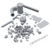 工业碎屑 3d model