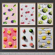 Fruit collection framed set-01 for kitchen 3d model