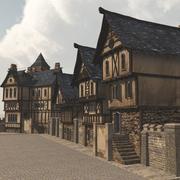 Medieval Street (for Vue) 3d model