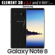 Samsung Galaxy Note 8 Gece Siyahı - Element 3D 3d model