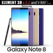 Samsung Galaxy Note 8 Tüm renkler - Element 3D 3d model