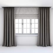 Roman güneşlikler ve pencere perdeleri 3d model