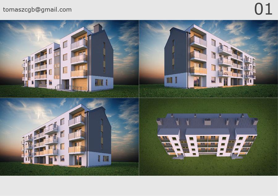 Byggnad / hus 01 royalty-free 3d model - Preview no. 1