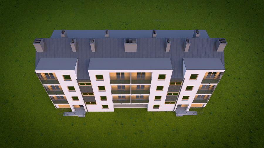 Byggnad / hus 01 royalty-free 3d model - Preview no. 5