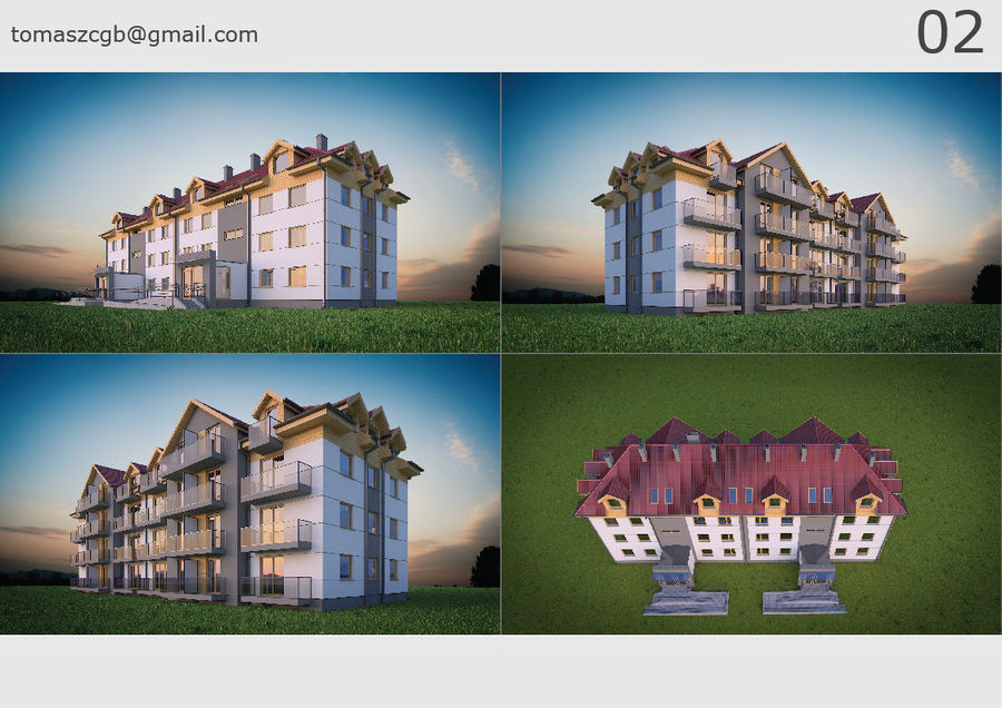 Byggnad / hus 02 royalty-free 3d model - Preview no. 1