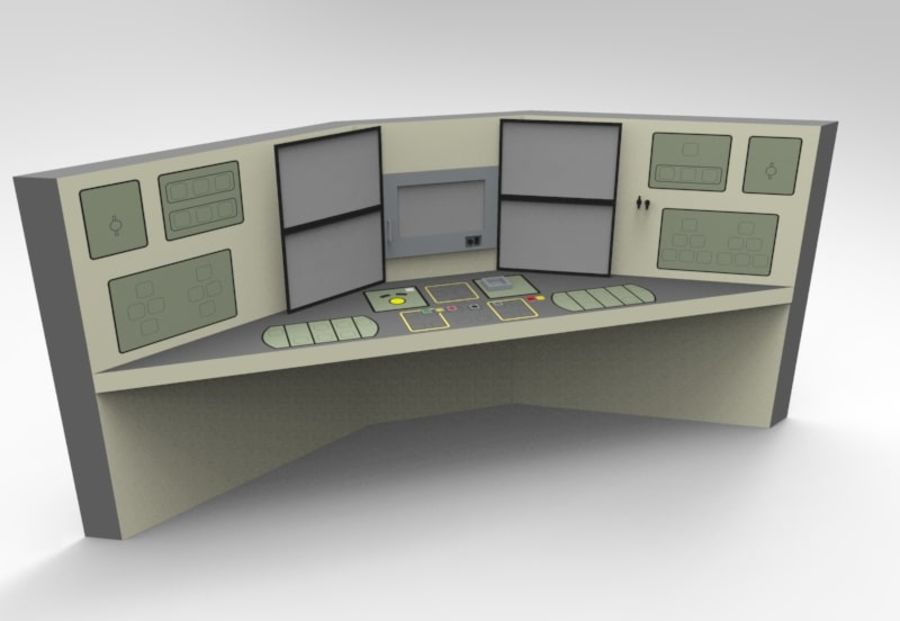 Panel sterowania royalty-free 3d model - Preview no. 1