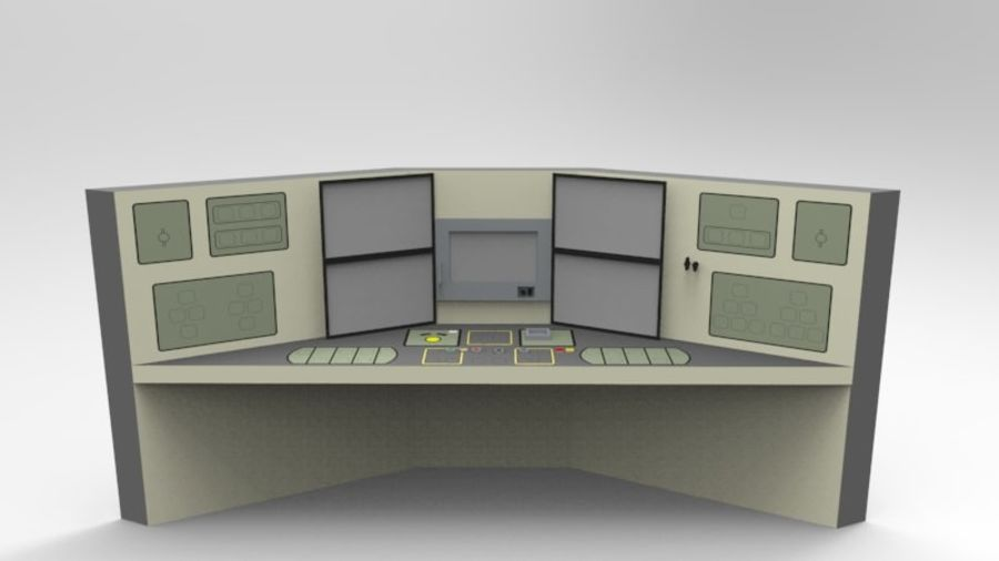 Panel sterowania royalty-free 3d model - Preview no. 2