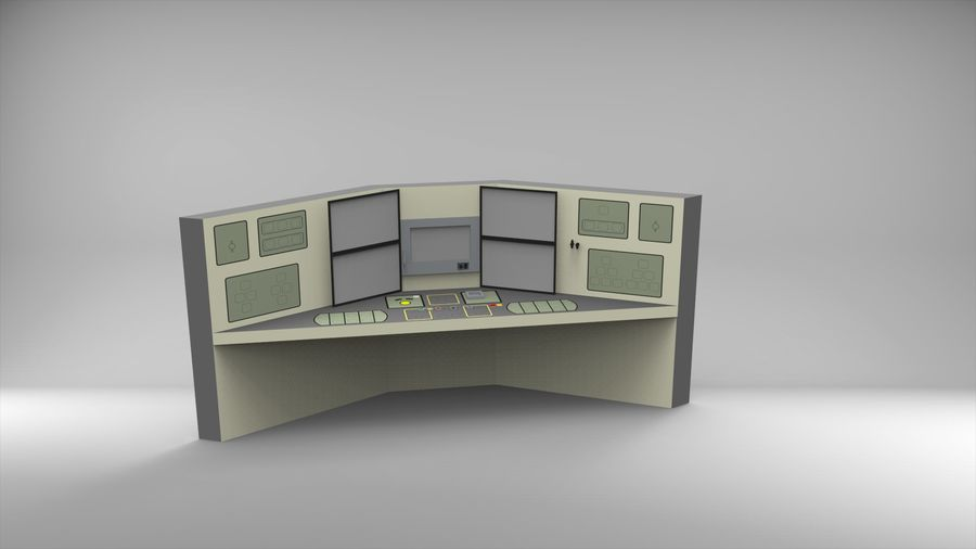 Panel sterowania royalty-free 3d model - Preview no. 3