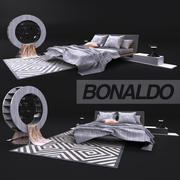 Comfortable bed, Bonaldo 3d model