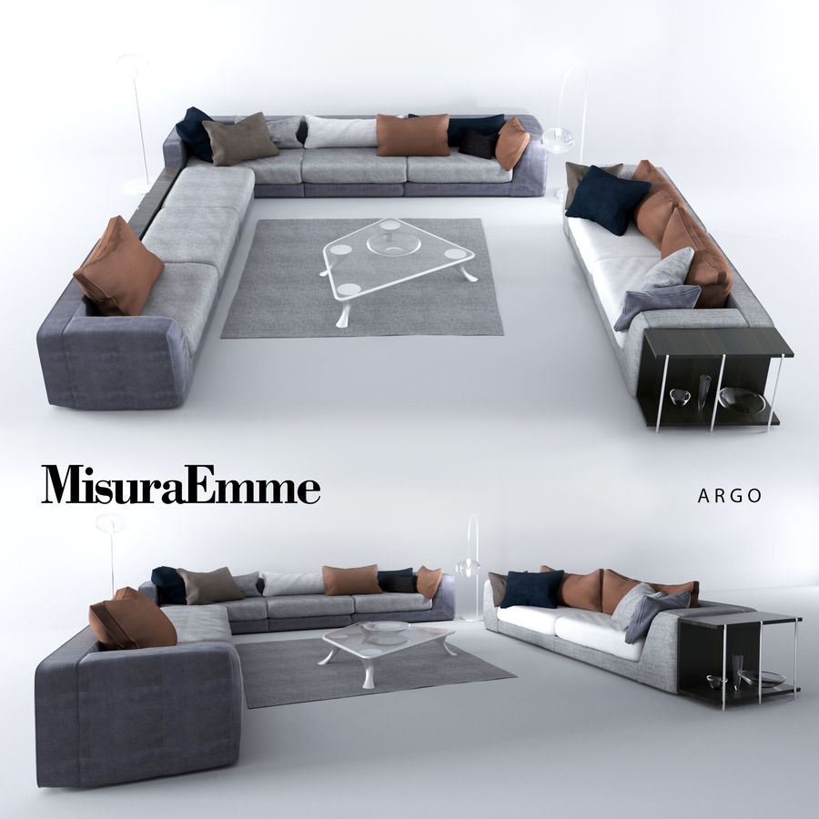 Comfortable sofas, MisuraEmme royalty-free 3d model - Preview no. 1