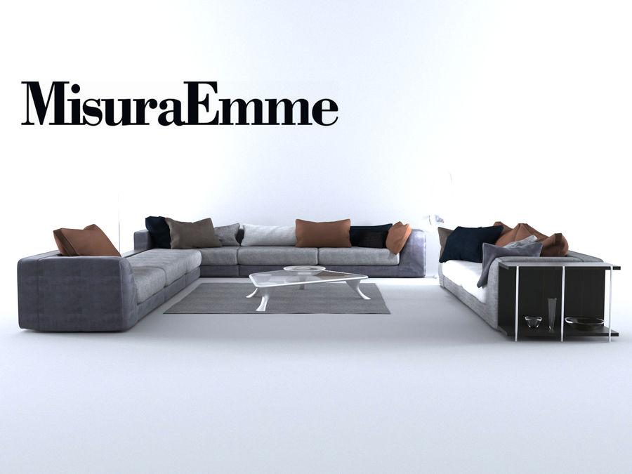 Comfortable sofas, MisuraEmme royalty-free 3d model - Preview no. 5
