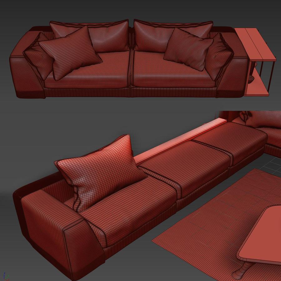 Comfortable sofas, MisuraEmme royalty-free 3d model - Preview no. 2