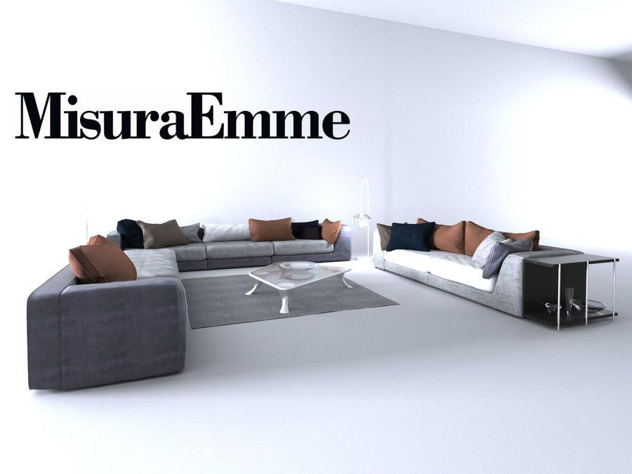 Comfortable sofas, MisuraEmme royalty-free 3d model - Preview no. 3