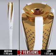 Jogos Olímpicos de Pyeongchang 2018 Tocha baixo poli 3d model