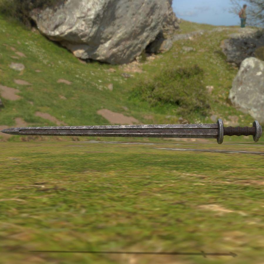 Viking kılıcı royalty-free 3d model - Preview no. 13