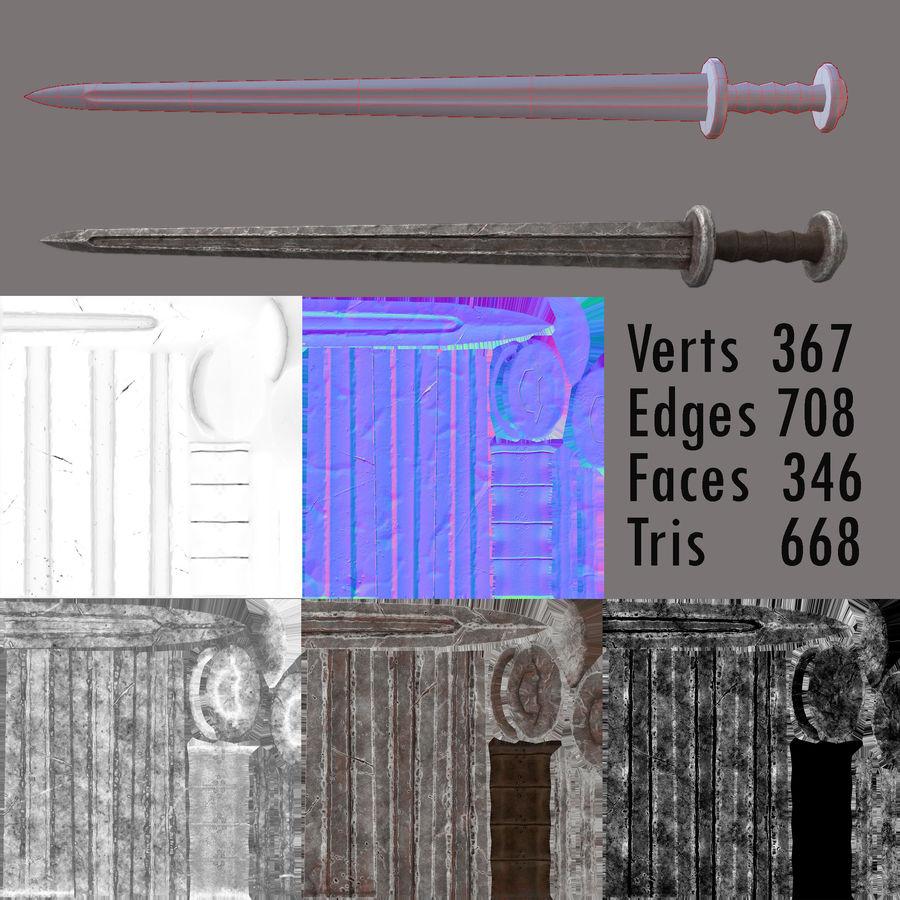 Viking kılıcı royalty-free 3d model - Preview no. 3