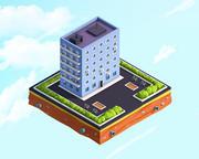 Cartoon Low Poly Residental House 3d model