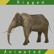 Elephant Rigged Animated 3d model