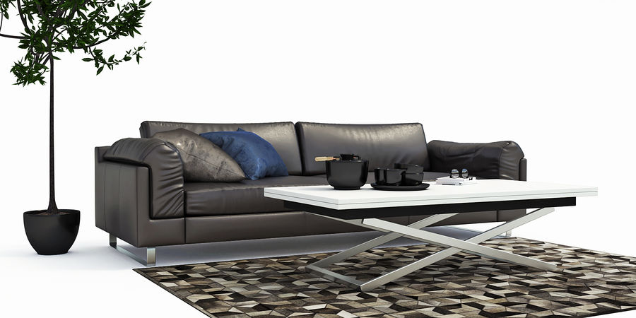 BoConcept Indivi2 soffa royalty-free 3d model - Preview no. 2