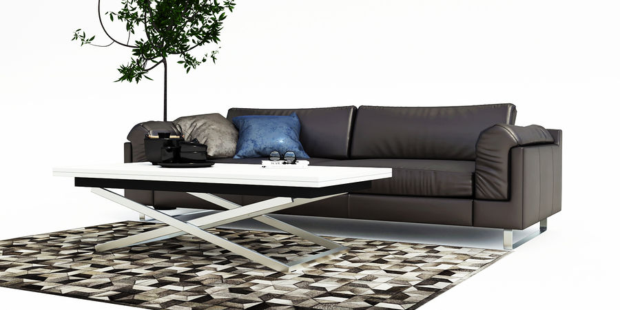 BoConcept Indivi2 soffa royalty-free 3d model - Preview no. 1