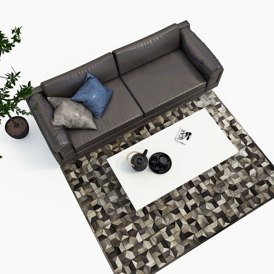 BoConcept Indivi2 soffa royalty-free 3d model - Preview no. 3