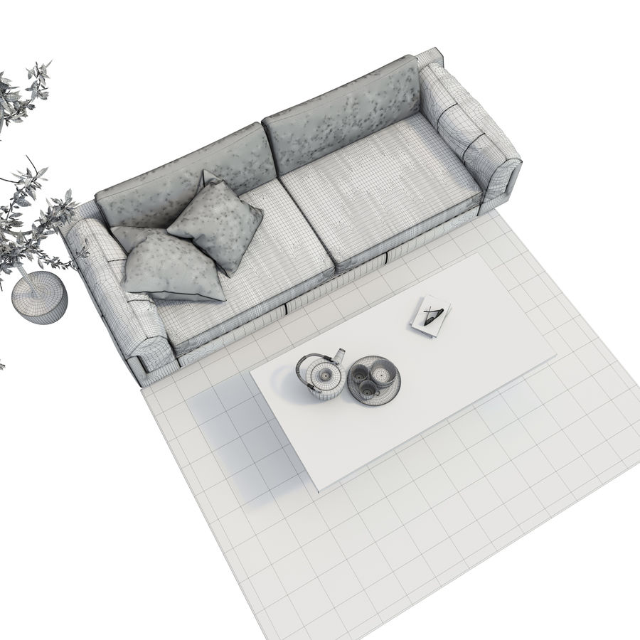 BoConcept Indivi2 soffa royalty-free 3d model - Preview no. 7