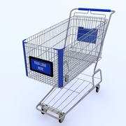 Shopping Cart 3d Model 3d model