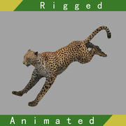 Cheetah Rigged Animated 3d model