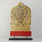 19th Century Thai Wood Carving 3d model