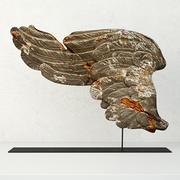17-wieczne włoskie rzeźbione drewniane skrzydło 3d model