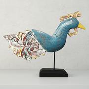 Antique Peacock on Stand autorstwa Jeffana 3d model