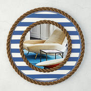 Beach Towel Striped Rope Mirror 3d model