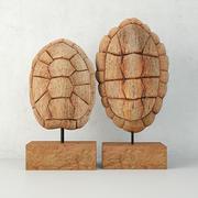 Sunset Cove Kaplumbağa Kabuğu Heykelleri 3d model