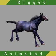 Pferd manipuliert animiert 01 3d model