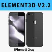 E3D-Apple iPhone 8太空灰 3d model