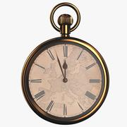 Gold pocket watch with a dial Europe 3d model