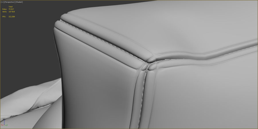 Hocker Stuhl royalty-free 3d model - Preview no. 14