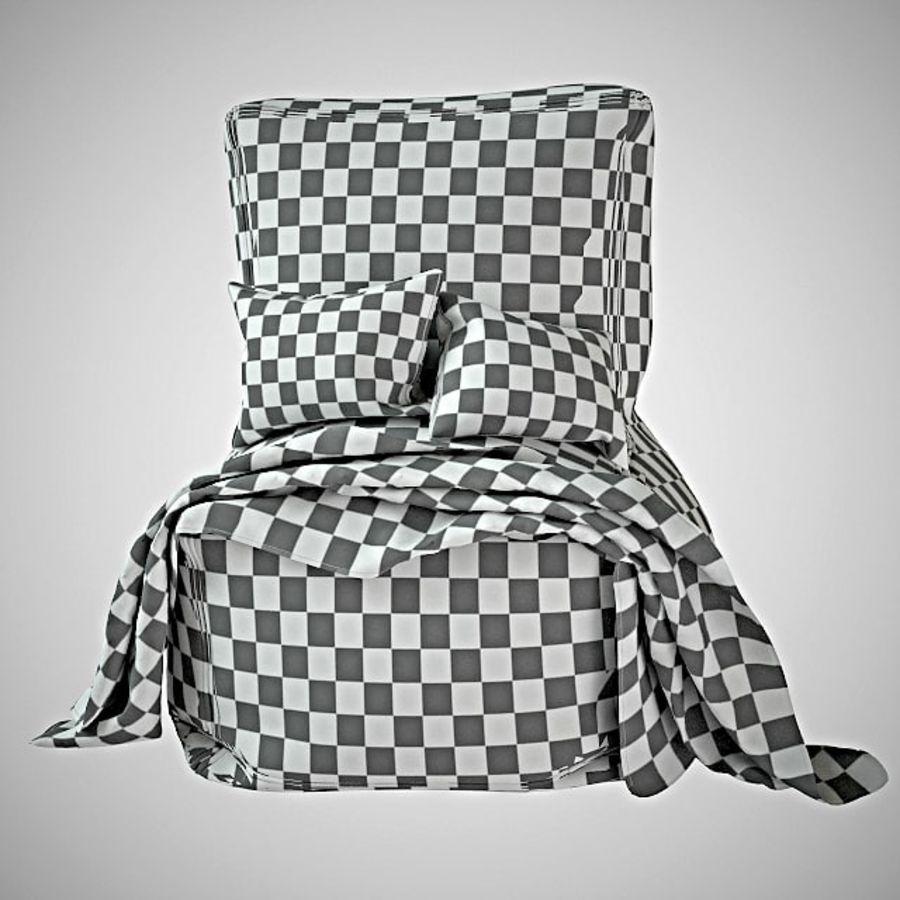 Hocker Stuhl royalty-free 3d model - Preview no. 6