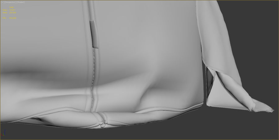 Hocker Stuhl royalty-free 3d model - Preview no. 15