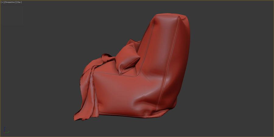 Hocker Stuhl royalty-free 3d model - Preview no. 9