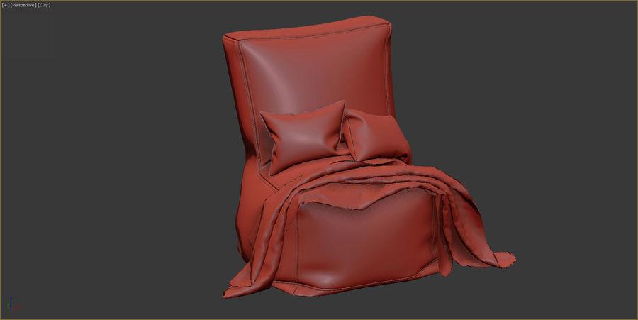 Hocker Stuhl royalty-free 3d model - Preview no. 8