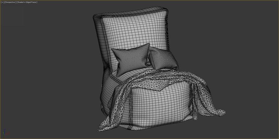 Hocker Stuhl royalty-free 3d model - Preview no. 13