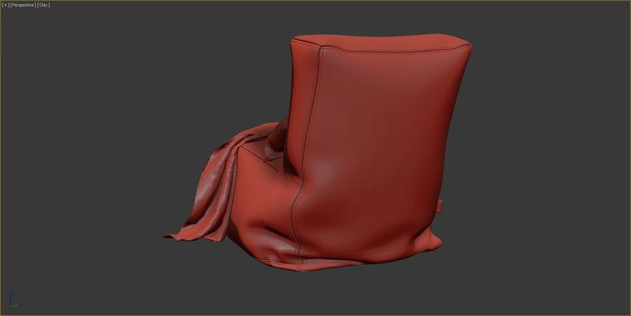 Hocker Stuhl royalty-free 3d model - Preview no. 10