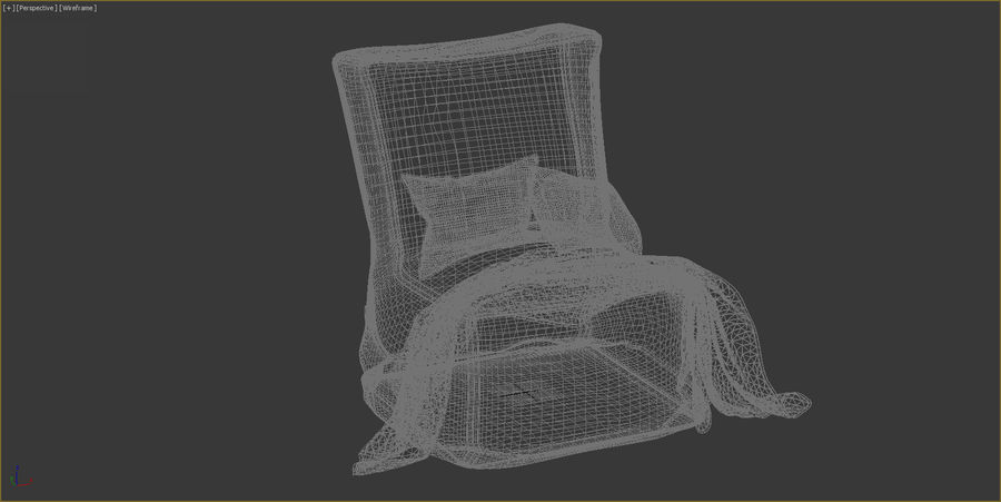 Hocker Stuhl royalty-free 3d model - Preview no. 12