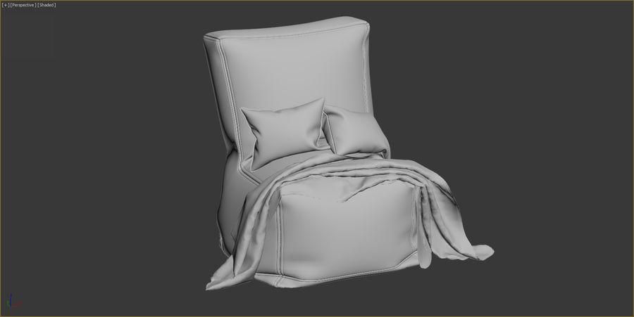 Hocker Stuhl royalty-free 3d model - Preview no. 11