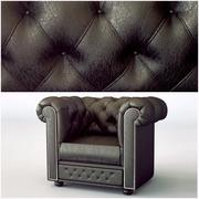 Chesterfield Classic Chair Antique Brown 3d model