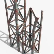 Rusty Truss Beams 3d model
